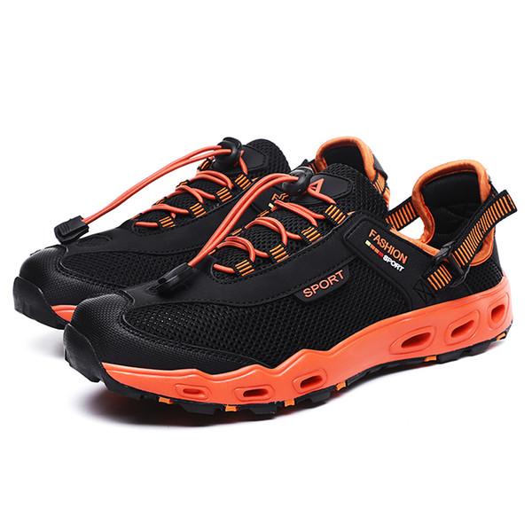 Hot Sale-2019 Nuevo Verano Sandalias de moda para hombres que llevan zapatos antideslizantes de secado rápido para exteriores Wading Stream para hombre Zapatos de playa