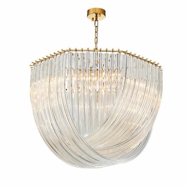 Post Modern Lustre Plate Gold / Chrome Metal Led E14 Post Modern Lustre Plate Gold / Chrome Metal Led E14 Pendant Lights Glass Round LPendan