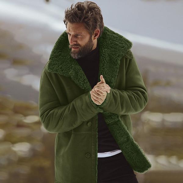 Großhandel 2019 Männliche Wollmischung Herren Mantel Plus Size Winter Herren Mantel Modemarke Kleidung Dicke Warme Fleece Gefüttert Wollmantel Von