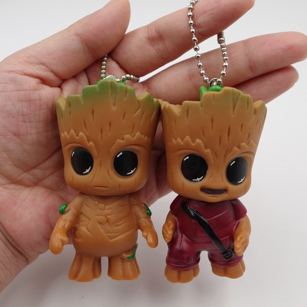Guardianes de la Acción Galaxy figuras de dibujos animados de teléfono móvil colgante del bolso Groot 7,5 cm / 3 pulgadas