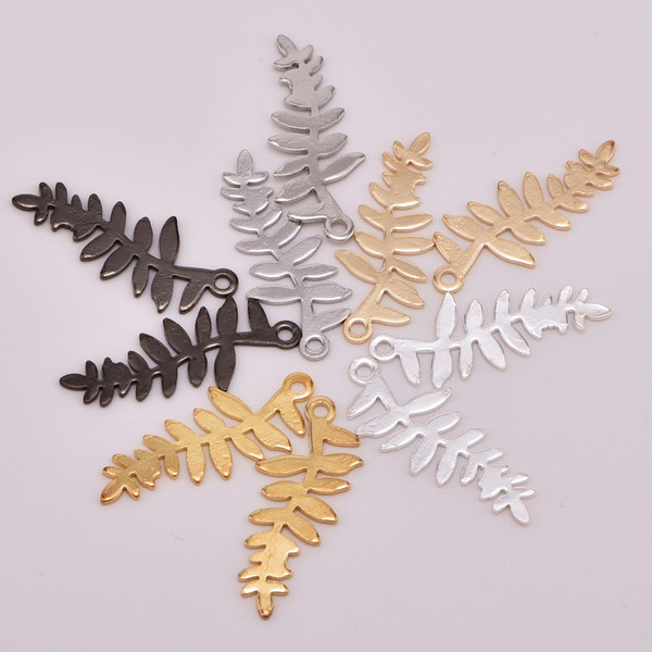10pcs/lot zhu ru 28.3*12.3mm New Korean Style Forest plant leaves tree For leaf DIY Jewelry Earrings Charms Accessaries