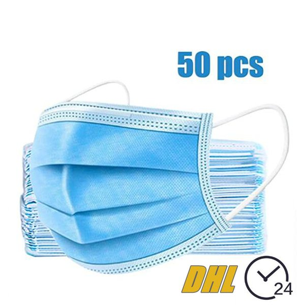 best selling Disposable Mask Protective Face Mask 3-layer Anti PM2.5 Adult Breathable Facial Dust Mask In Stock Ship In 24hrs