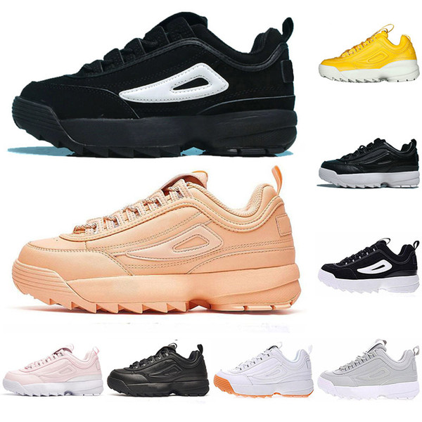 2019 Brand Disruptors II casual shoes for men women Triples White Gum Silver white black grey fashion Outdoor sports sneaker off mens shoes
