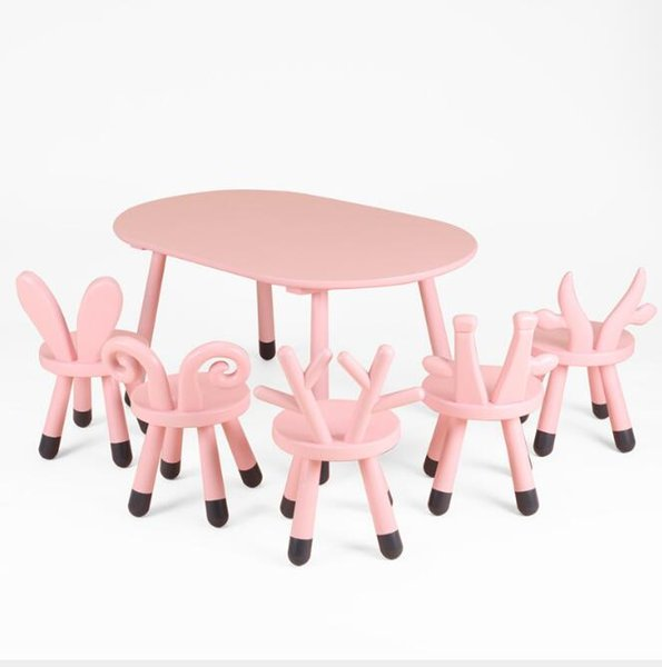 Admirable Childrens Series Chair Ins Nordic Style Childrens Table And Chair Deer Lamb Rabbit Calf Giraffe Oval Table And Chair Outdoor Metal Rocking Chairs Inzonedesignstudio Interior Chair Design Inzonedesignstudiocom