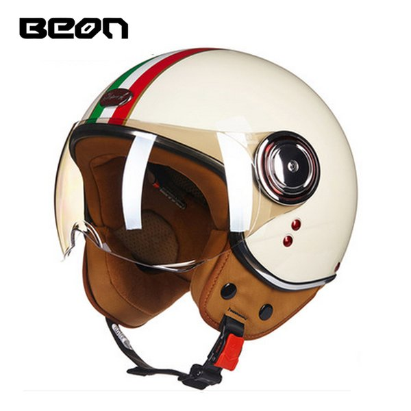 BEON B110B Motorcycle helmet Men's Vintage scooter open face helmet Retro Women's Motorbike 3/4 ECE Moto casco Casque
