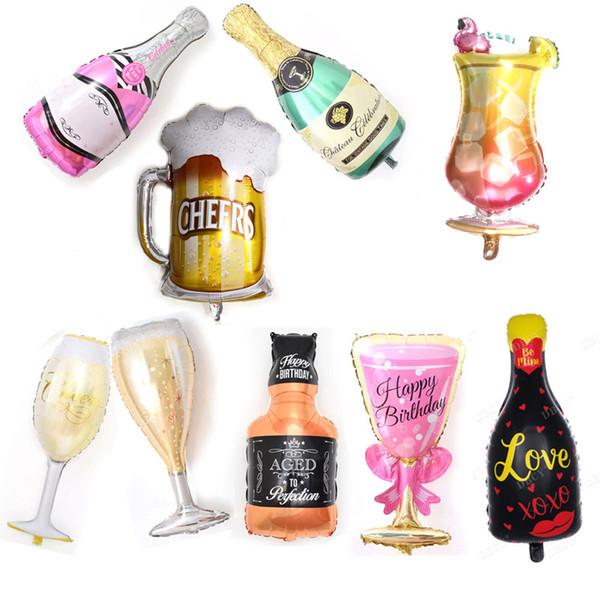 Grande palloncino bottiglia di vino Whiskey 30 anni Happy Birthday Party Decor Invecchiato alla perfezione tema vacanza