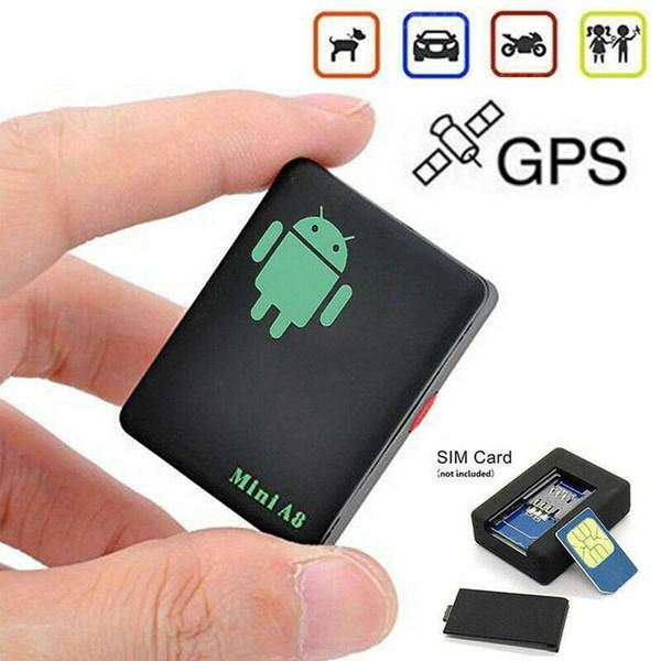 미니 A8 자동차 GPS 트래커 글로벌 실시간 4 주파수 GSM / GPRS 보안 자동 추적 장치 지원 안드로이드 어린이 자동차 애완 동물 차량