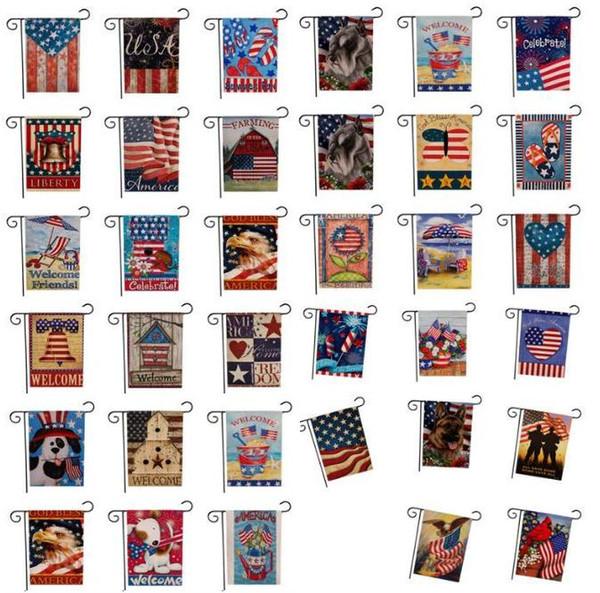 33 конструкции США Союз сад флаг партия домашнего декора американский флаг серии шаблон двухсторонний сад флаг домашний газон декор 47 * 32см SN3612