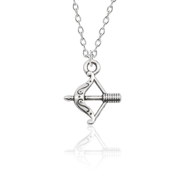 Hip Hop Love God Cupid Bow And Arrow Pendant Necklace Silver Metal Charm Pendants&Necklaces Creative Jewelry Dropshipping Colar