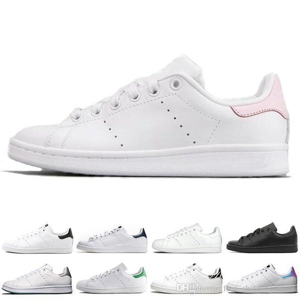 New Smith Men Women Casual Shoes Green Black White Blue Red Pink Mens Stan Fashion Leather Shoe Flats Sneakers