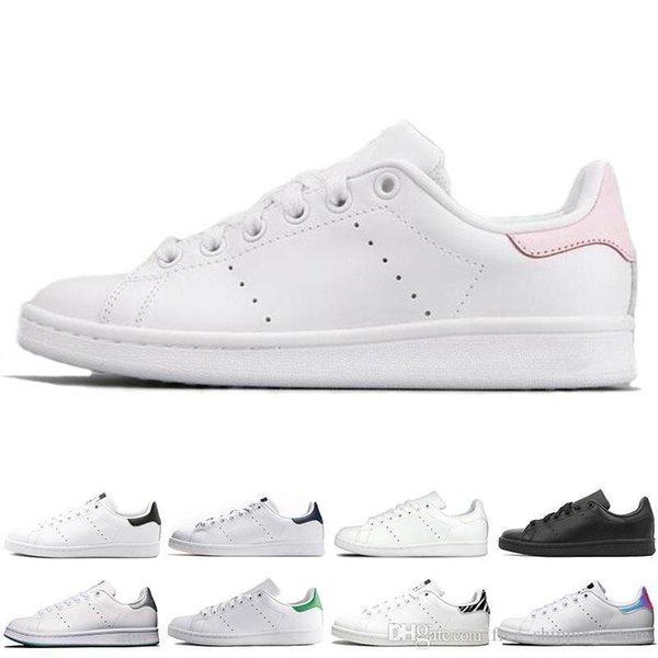 Yeni Smith Erkek Kadın Rahat Ayakkabılar Yeşil Siyah Beyaz Mavi Kırmızı Pembe Erkek Stan Moda Deri Ayakkabı Flats Sneakers