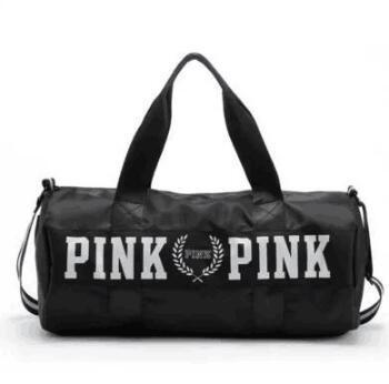 Sport Bags For Women Luxury Handbags Pink Letter Large Capacity Travel Duffle Striped Waterproof Beach Bag on Shoulder for Outdoor Business