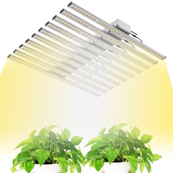 2019 800W LED Grow Light Full Spectrum Grow phytolamp Grow Tent Fitolampy Growth Light 10 Strip Bar para planta de flor de siembra
