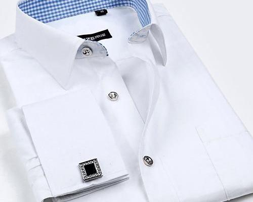 Al por mayor del qulity 2016 Hight masculina francesa camisa de manga larga de las mancuernas del mens camisa masculina comercial de la manga del clavo de fácil cuidado delgado s-4xl tamaño grande