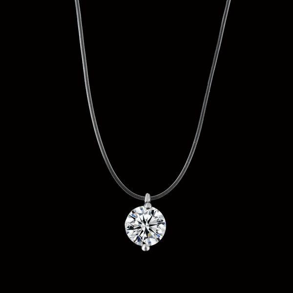2019 Nuova collana di lacrime di sirena Collana di ciondolo di meteorite trasparente da pesca Collana da donna invisibile Catena di gioielli da clavicola