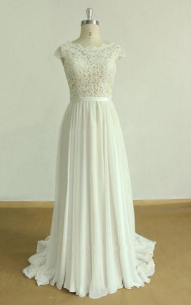 A linha de vestidos de noiva vestidos de noiva vestido de noiva boêmio LWD078 barato
