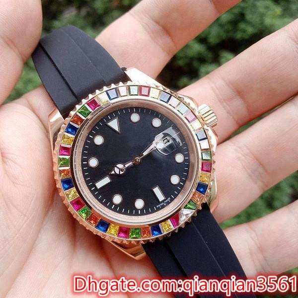 2019 Top Selling Luxury Luxury Caja de acero inoxidable Color Diamond 2813 Relojes de pulsera mecánicos automáticos Hombres Reloj para hombre Relojes de alta calidad