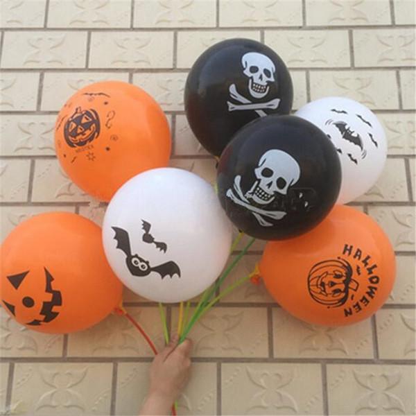 12 Polegada 2.8g Látex Balão Livre Balões de Halloween Festa de Látex Balão Decorativo Brinquedos Decoração Do Partido