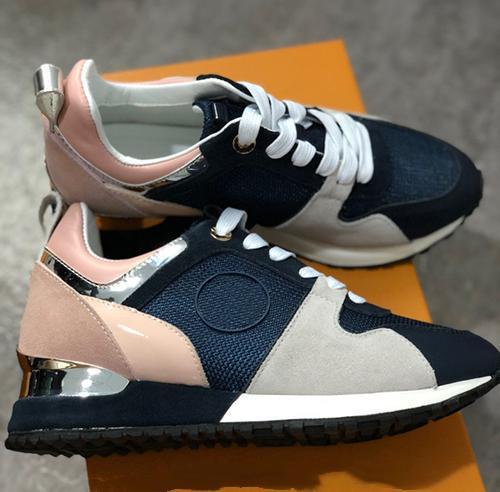 2018 NEW Luxury Leather Damen Freizeitschuhe schwarz Designer Turnschuhe Herren-Schuhe echtes Leder Art und Weise mischte Farbe 36-45