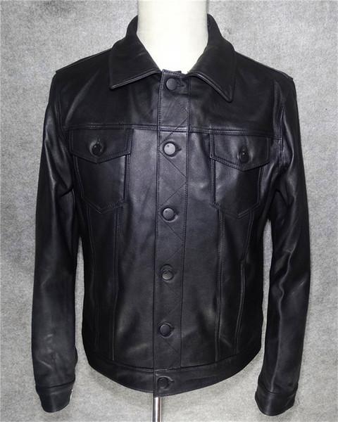 erkek süet deri ceket gündelik koyun derisi giysi ceket koyun binici erkek ceketi