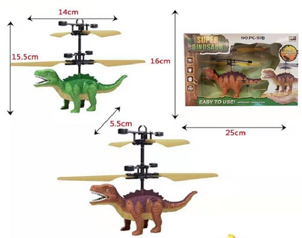 top popular Induction Helicopter Flying Rc Aircraft Sensing Remote Control Line Dinosaurs Sense Flying Toys Multicopter Aircraft Novelty Outdoor Toys 2021