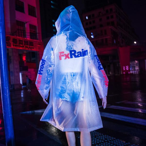 Aolamegs Men Waterproof Windbreaker Cardigan Raincoat Male Multi-color Optional Fashion Harajuku High Street Style