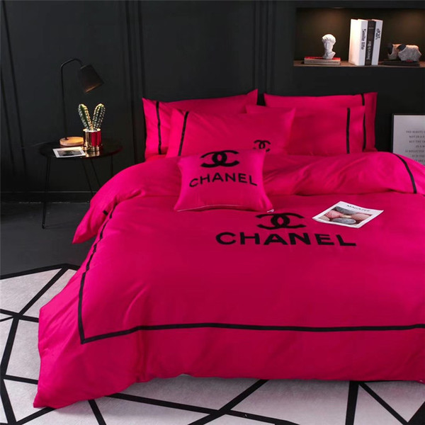 Classics Pink Women Bedding Sets Queen Size Bedspreads With Pillowcase And Bedding Bag 4PCS Set Europe And America Bedding Supplies