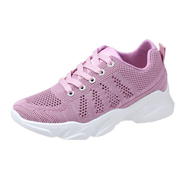 CHAMSGEND Women's Summer breathable wild casual shoes trend  woven lightweight sports shoes comfortable sports