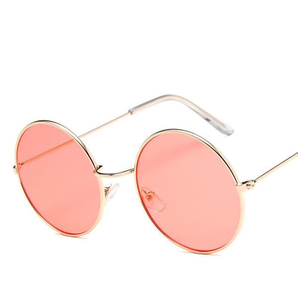 2019 neue runde Rahmen-Sonnenbrille Art und Weise Dame blendet Ozean Gläser dekorative Sonnenbrille