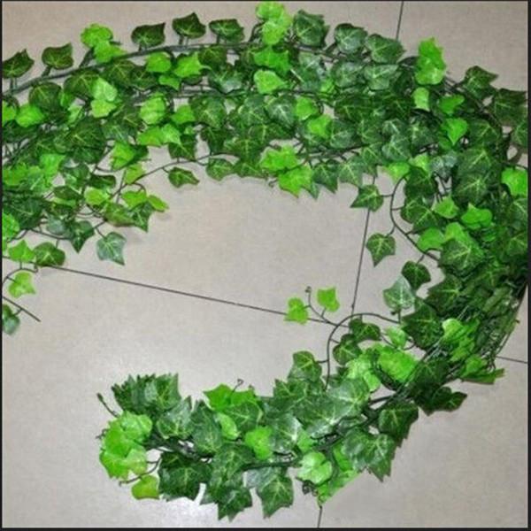 2.5m Artificial Ivy Leaf Garland Plants Vine Fake Foliage Flowers Home Decor Plastic Artificial Flower Rattan Evergreen Cirrus C18112601