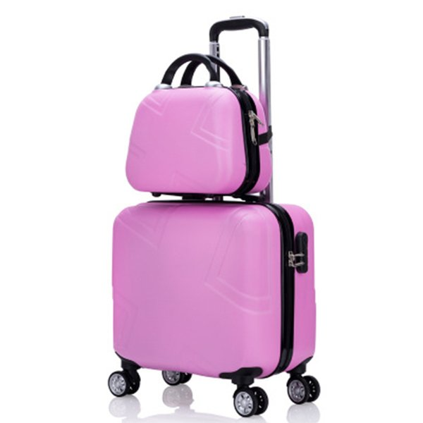 72dc77a72129 Travel Suitcase Set Rolling Luggage Set Spinner Trolley Case 18 Boarding  Wheel Woman Cosmetic Case Carry On Luggage Travel Bags Overnight Bags ...