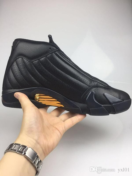 New Arrival XIV DMP 14 Champion Black Gold Red Mens Basketball Shoes for High quality 14s Sports Training Athletic Sneakers Size 41-47
