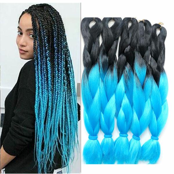 2019 24 100g Blonde Jumbo Braids Synthetic Ombre Braiding Hair Diy Box Crochet Hair Extension Kanekalon Fiber Xpression Ultra Braids For Women From