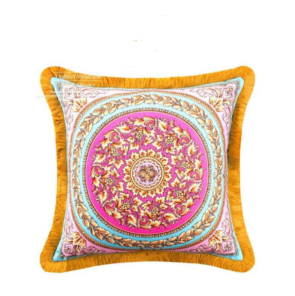 Home Decoration Sofa Chair Bed Throw *women Almofada Newest Design Cushion Cover Luxury Velvet Tassels Square Pillow Case