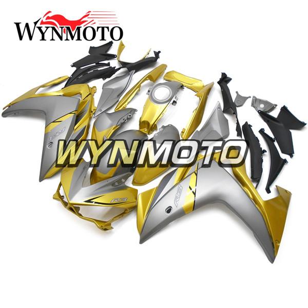 Carene Moto Per Yamaha R25 R3 2015 2016 Iniezione di plastica ABS cappottature moto Copri Sportbike oro argento