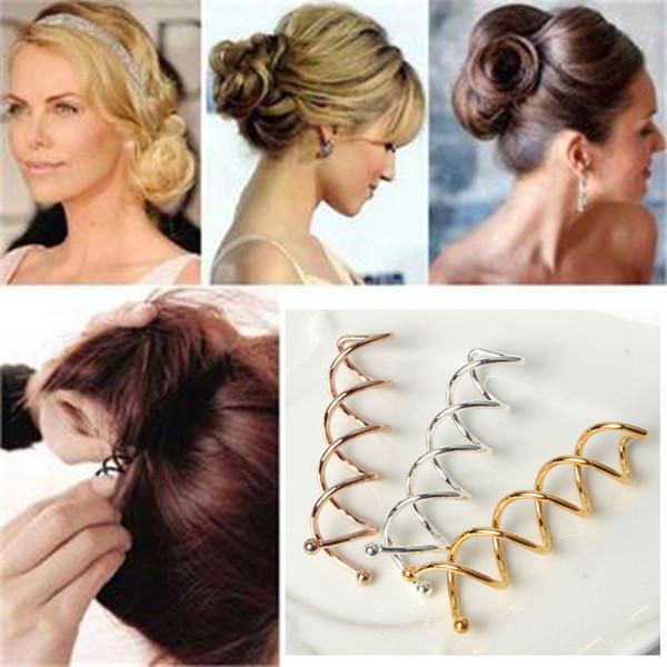 5 Pcs Hair Bun Maker Pinces À Cheveux Spirale Spin Vis Épingles À Cheveux Femmes Braiders Barrette DIY Fille de Style Accessoires Outils