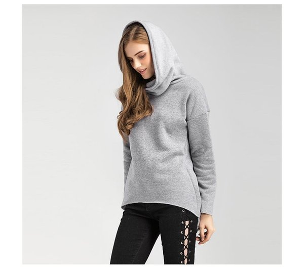 Women Winter Hoodies Scarf Collar Long Sleeve Fashion Christmas Clothes Casual Autumn Sweatshirts Rough Pullovers newly styles