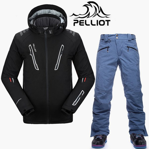 Pelliot Brand SKi Suit Men High Quality Waterproof Ski Jacket Snowboard Pants Super Warm Breathable Snowboarding Suits Snow Sets