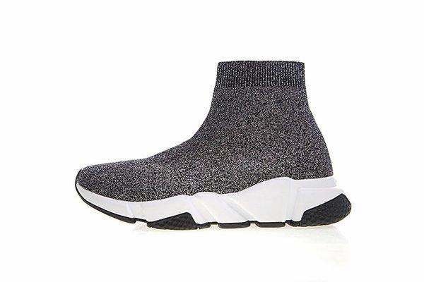 Calcetines de velocidad entrenador corredor de hombres y mujeres negros calcetines zapatos de alta gama zapatos casuales entrenador velocidad de calzado deportivo de alta calidad