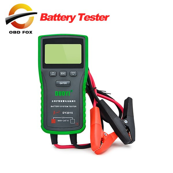 New Released DY2015 Electric Vehicle Battery Tester Capacity Tester 12V60A Battery Meter Discharge Fork Free Shipping