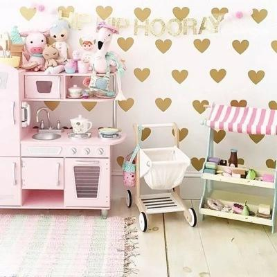 Hot sell Heart Wall Sticker For Kids Room Baby 6cm(35dots)Girl Room Decorative Stickers Nursery Bedroom Wall Decal Stickers Home Decoration