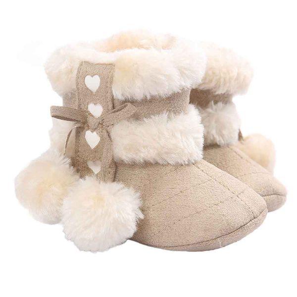 winter girls soft bottom nonslip warm snow boots kids cute fur ball hair balls pendant boot girl fashion casual shoes
