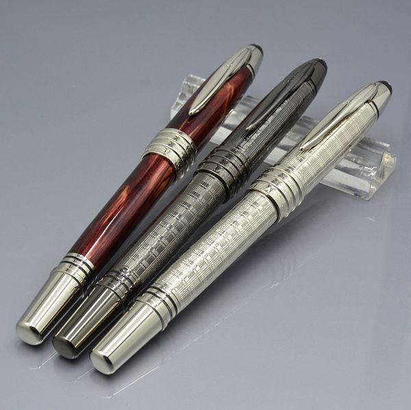 Bolígrafos de rodillos de metal de edición limitada de lujo con clip de talla JFK Papelería de oficina escolar Plumas de regalo de recarga de marca MB con número de serie