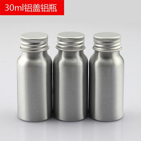 30 ml x 50 Aluminium Kosmetikverpackung Metallflasche, Metallaufbewahrungsbehälter, Flasche mit ätherischem Öl
