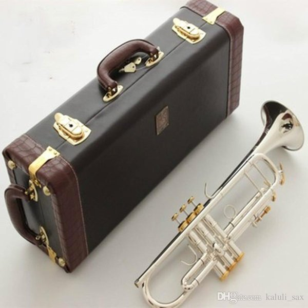 Baja Best quality LT180S-72 Bb Trumpet B Flat Brass Silver Plated Professional Trumpet Musical Instruments with Leather Case