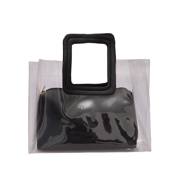 2019 neue Art und Weise Frauen Composite-Taschen PVC Transparent beiläufige Handtaschen Art und Weise Strandtaschen Sommer-Schulter-Handtaschen-Frauen