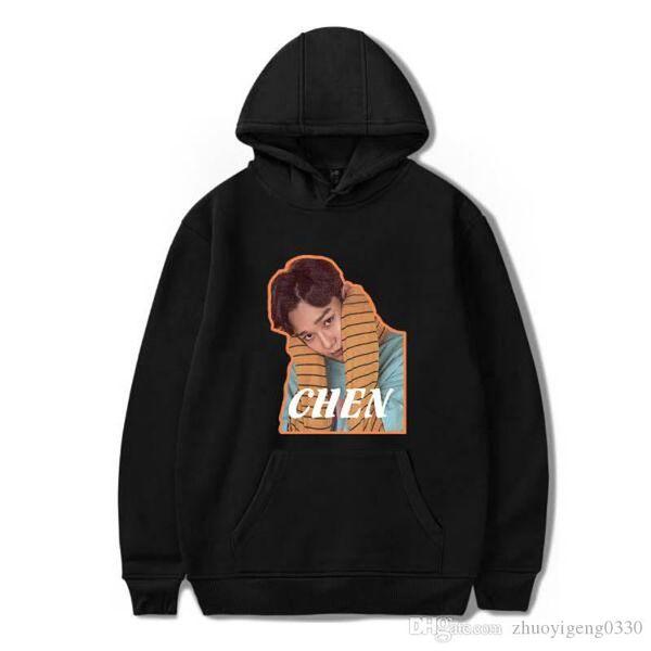 Hip Hop Member DJ EXO CHEN Hoodies Sweatshirts Women/Men Autumn Warm Long Casual Print Long Sleeve Hoodies Clothing Plus size