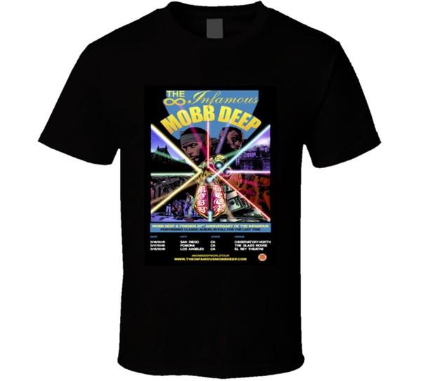 Mobb Deep Anniversary Concert Rap Hip Hop-T-Shirt der heißen neue 2018 Sommer-Mode-T-Shirts Art und Weise klassische Spitze T