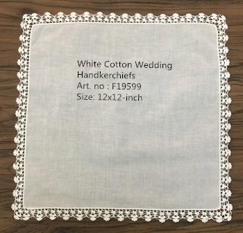 Set of 12 Fashion Wedding Bridal Handkerchief Cotton Cloth Hankies Vintage crochet Lace Hanky For Mother of Bride