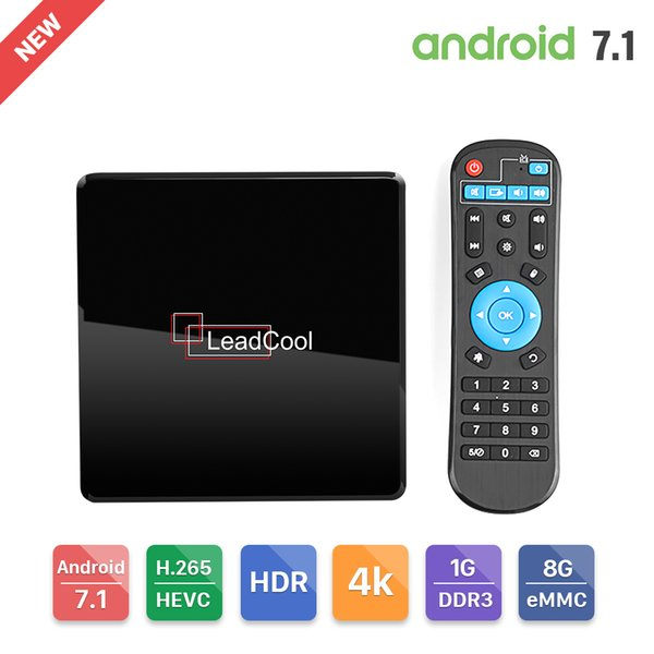 Leadcool X Smart TV Box Android 7.1 Amlogic S905W Mali-450 4K Media Player 1G DDR3 8G eMMC Leadcool Set Top Box